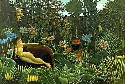 Jungle Dream 1910 Poster by Padre Art