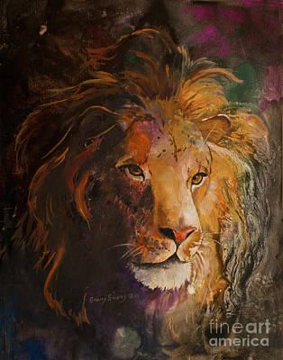 Jungle Lion Poster
