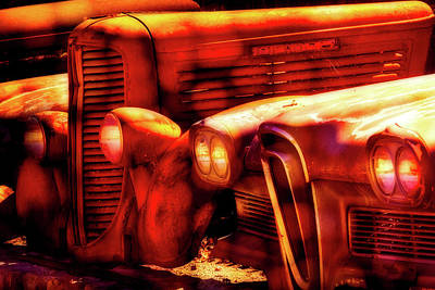 Junk Yard Cars Poster by Garry Gay