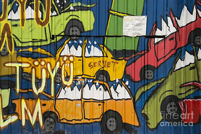 Junkyard Art Poster by Bob Phillips