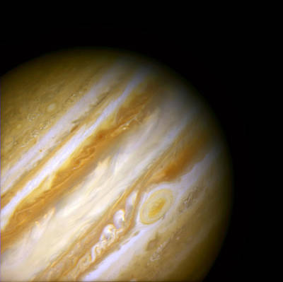 Jupiter And The Great Red Spot Poster