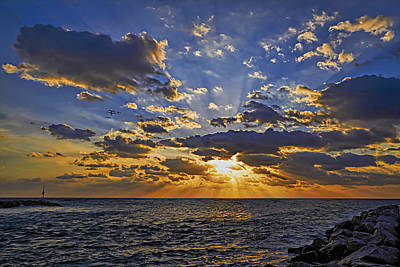 Jupiter Inlet Sunrise Poster by Island Photos