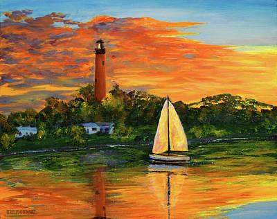 Jupiter Lighthouse Sunrise Poster