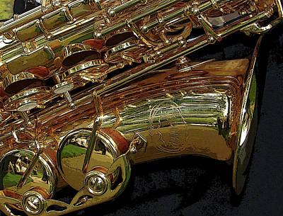 Jupiter Saxophone Poster