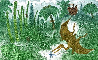 Jurassic Landscape Poster