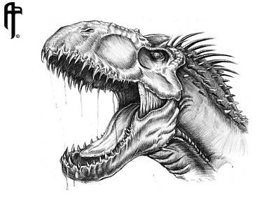 Jurassic World Indominus-rex Portrait Poster