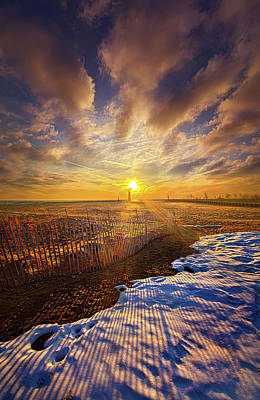 Poster featuring the photograph Just A Bit More To Go by Phil Koch