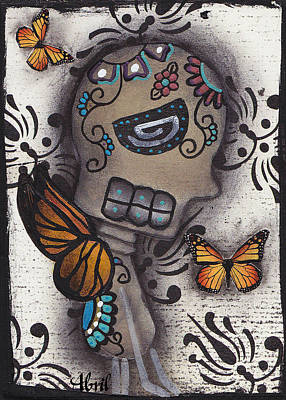 Just A Butterfly  Poster by  Abril Andrade Griffith