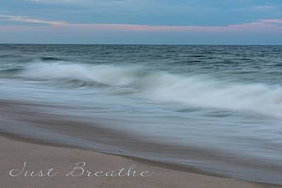 Just Breathe Seaside New Jersey Poster