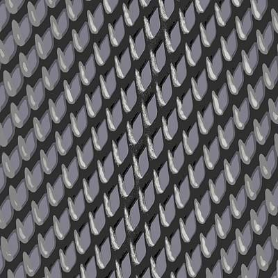 Just Grate Abstract Pattern With Heather Background Poster