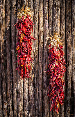 Just Hanging Around - New Mexico Chile Ristra Photograph Poster by Duane Miller