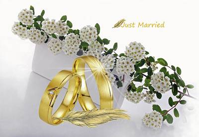 Just Married 5 Poster by Manfred Lutzius
