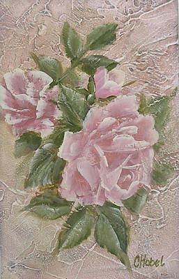 Poster featuring the painting Just Roses by Chris Hobel