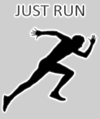 Just Run Poster Poster by Dan Sproul