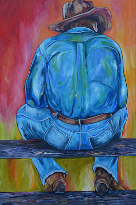 Just Sittin Poster by Patti Schermerhorn