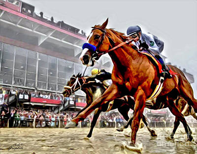 Justify Wins Preakness Poster