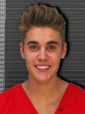 Justin Bieber Mug Shot 2014 Color Photo Poster by Tony Rubino