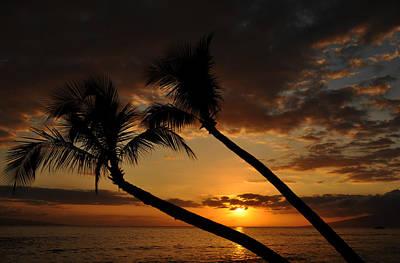 Ka'anapali Beach Sunset Poster by Kelly Wade