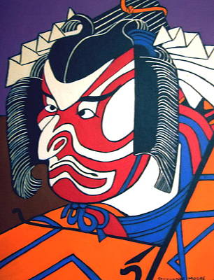 Kabuki Actor Poster by Stephanie Moore