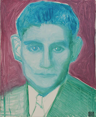 Kafka In Psychedelic Green Poster