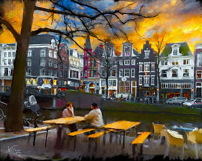 Poster featuring the photograph Kaizersgracht 451. Amsterdam by Juan Carlos Ferro Duque