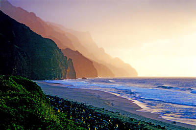 Kalalau Beach Sunset Poster by Kevin Smith