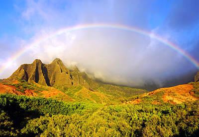 Kalalau Sunset Rainbow Kauai Poster by Kevin Smith