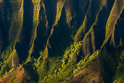 Kalalau Valley Ridges Poster