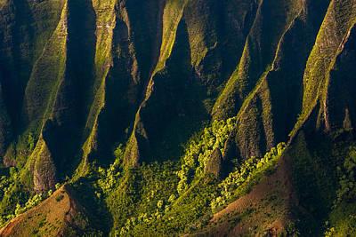 Kalalau Valley Ridges Poster by Thorsten Scheuermann