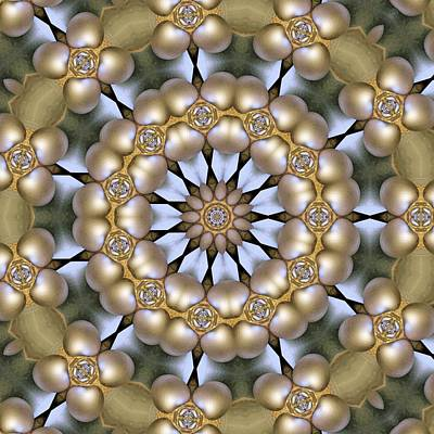 Poster featuring the digital art Kaleidoscope 130 by Ron Bissett
