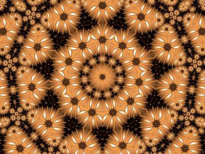 Poster featuring the digital art Kaleidoscope 131 by Ron Bissett
