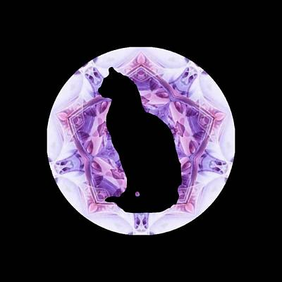 Kaleidoscope Cat Silhouette Poster