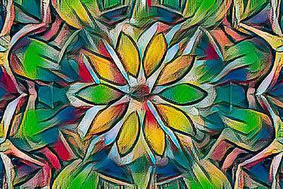 Kaleidoscope In Stained Glass Poster