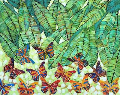 Kaleidoscope Of Butterflies Poster by Caroline Street