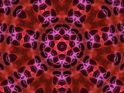 Kaleidoscope With Seven Petals Poster