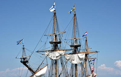 Poster featuring the photograph Kalmar Nyckel - Docked In Lewes Delaware by Brendan Reals