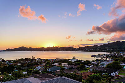 Kaneohe Bay Sunrise 1 Poster