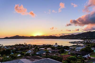 Kaneohe Bay Sunrise 1 Poster