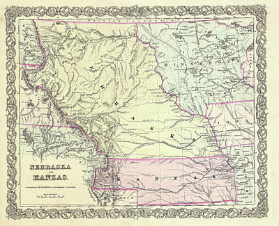 Kansas And Nebraska 1855 Poster