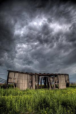 Kansas Boxcar Storm Poster by Thomas Zimmerman