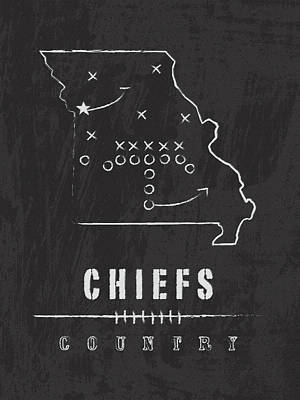 Kansas City Chiefs Art - Nfl Football Wall Print Poster by Damon Gray