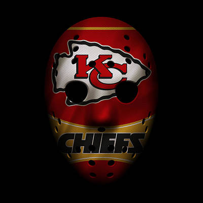 Kansas City Chiefs War Mask 2 Poster by Joe Hamilton