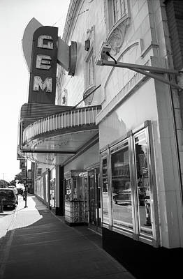 Poster featuring the photograph Kansas City - Gem Theater 2 Bw  by Frank Romeo