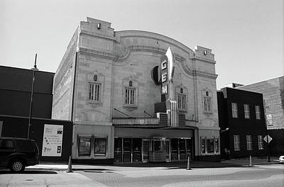Poster featuring the photograph Kansas City - Gem Theater Bw by Frank Romeo