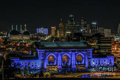 Kansas City In Royal Blue Poster