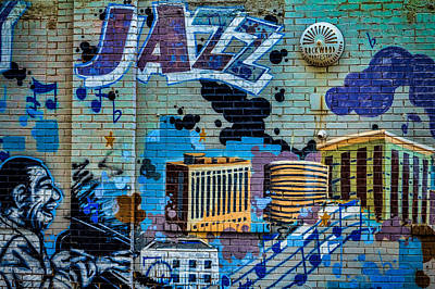 Kansas City Jazz Mural Poster