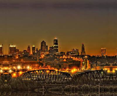 Kansas City Missouri At Dusk Poster by Don Wolf