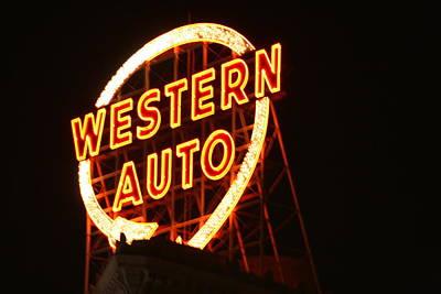 Kansas City Western Auto Poster by David Dunham