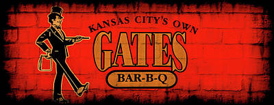 Kansas City's Own Gates Bar-b-q Poster by Sennie Pierson