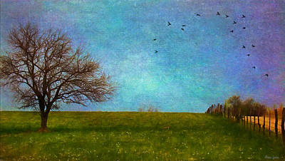 Kansas Early Spring Prairie Poster